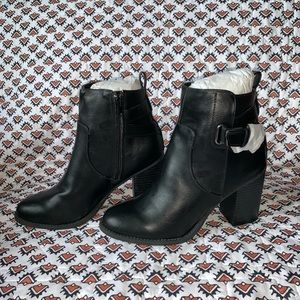 Charlotte Russe Never Worn Black Buckle Boots